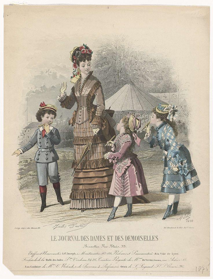 Le Journal des Dames et des Demoiselles, 1875, No. 1256 : Etoffes et Nouveautés..., A. Bodin, Ad. Goubaud et Fils, A. Leroy, 1875