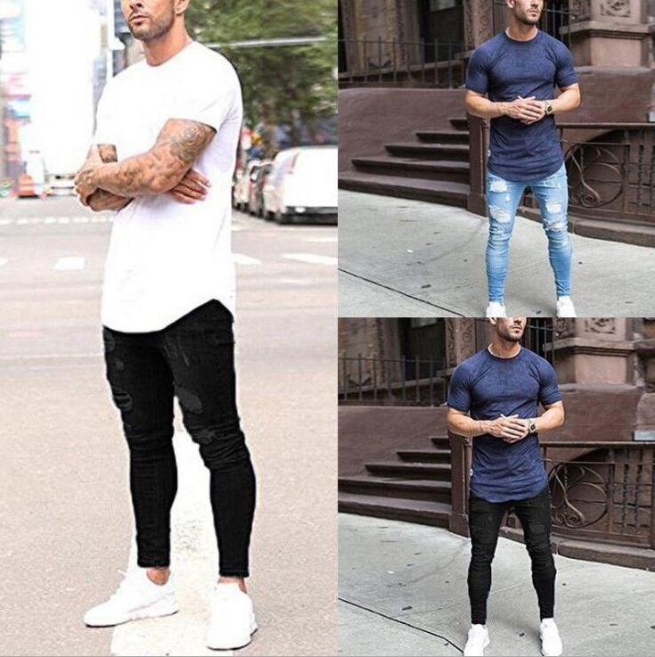 Buy Mens Casual Skinny Jeans Pants Men Solid ripped jeans men Ripped Beggar Jeans With Knee Hole For Youth Men at Wholesale Price. Free or Lowcost Worldwide Shipping. And large of options in our best Jeans category with cheapest price on Pricetug.com Biker Jeans Men, Ripped Jeans Men, Denim Skinny Jeans, Super Skinny Jeans, Skinny Fit, Hip Hop Jeans, Superenge Jeans, Denim Pants, Buy Jeans