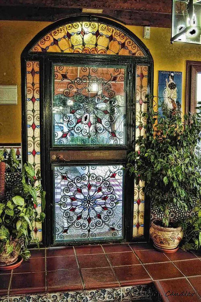 Beautiful Spanish style door inside Venta Melchor, El Colorado, Spain.