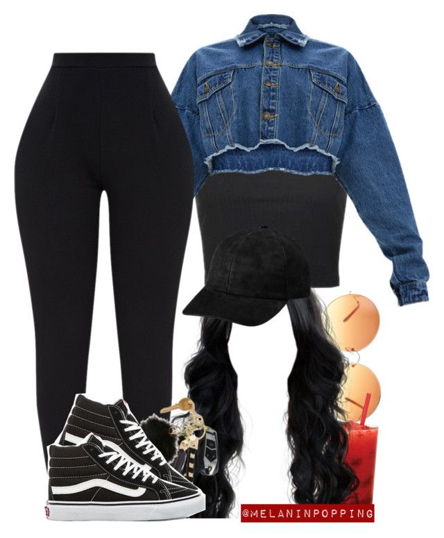 """""""Black Bird"""" by melaninpopping ❤ liked on Polyvore featuring ASOS, Topshop and Vans"""