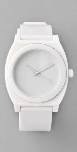 clean and classic white watch.
