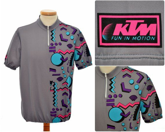 Vintage Cycling Jersey By Ktm Fun In Motion Mens Size M L Neon Shorts Fashion T Shirt Top