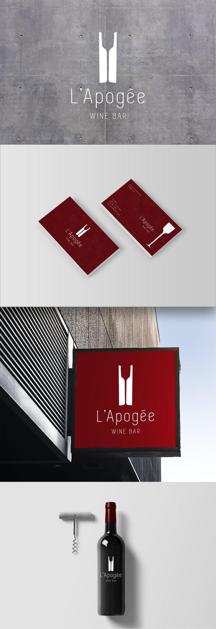 Logo Apogée, Bar à vin  #logo #design #graphist #minimalism   Création : Etienne Viberti