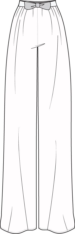 technical flats   Flat Fashion Sketch Pant   Fashion   Pinterest