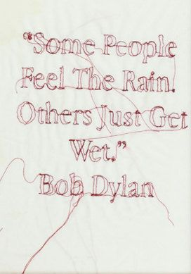 Bob Dylan Quote by RosieGEmbroidery on Etsy, £18.00