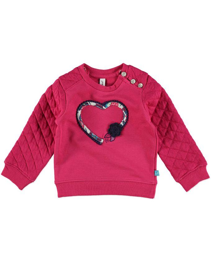 Leuke trui van het merk Babyface met hart. Verkrijgbaar in de maten: 74-104.