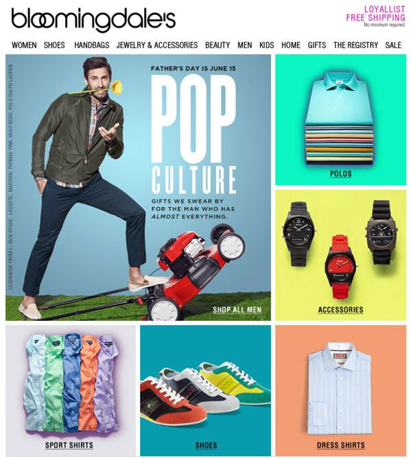 Fathers Day Email: Bloomingdales