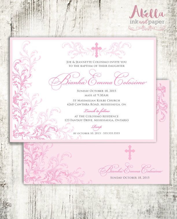 10 best Baptism Invitations Christening Invitations