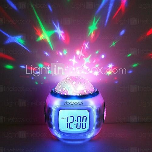 Music Starry Star Sky Projection Alarm Clock Calendar Thermometer 2016 - $9.99