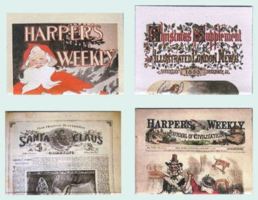 Set of Victorian Christmas newspapers