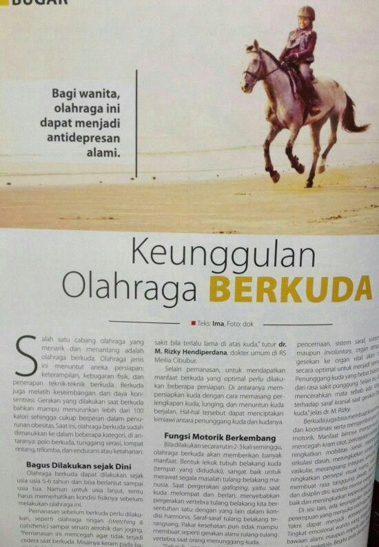 Berkuda dan kesehatan #olahraga #rsmeilia #cibubur #depok #cileungsi #bekasi #bogor #jakarta #sehat #fisik #jasmani #majalahparas