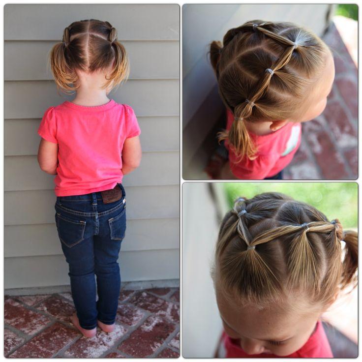 peinados con ligas para nias