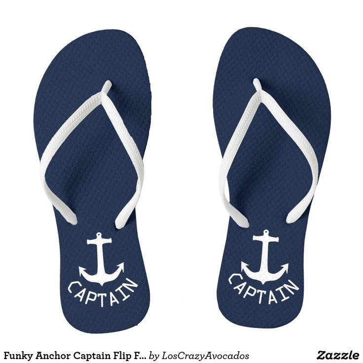 Funky Anchor Captain Flip Flops