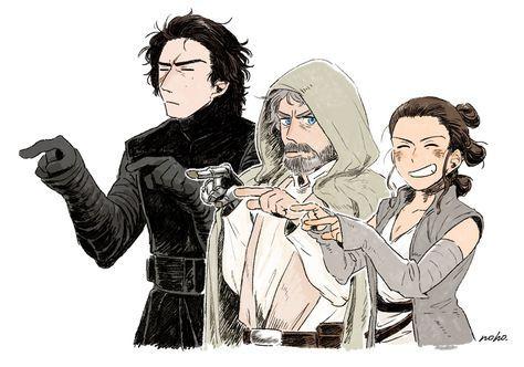 Kylo, Luke y Rey - Personajes que son casi familia