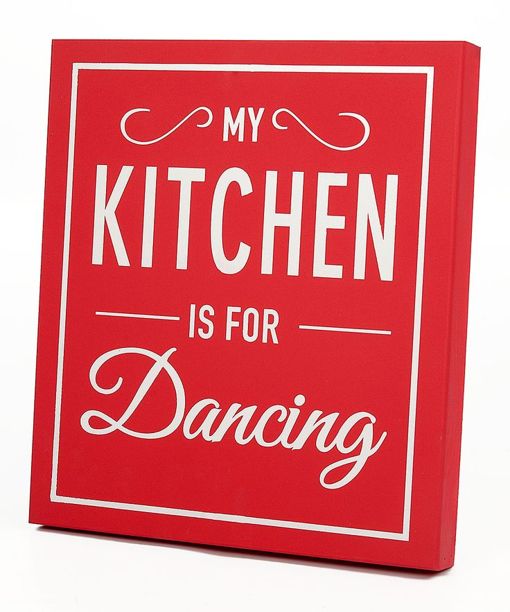 Twelve Timbers Red 'My Kitchen Is For Dancing' Wall Sign