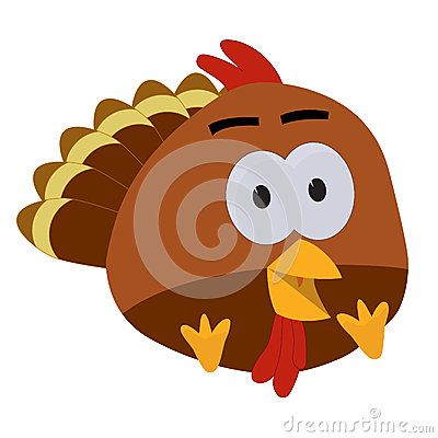 Thanksgiving Baby Turkey Cartoon