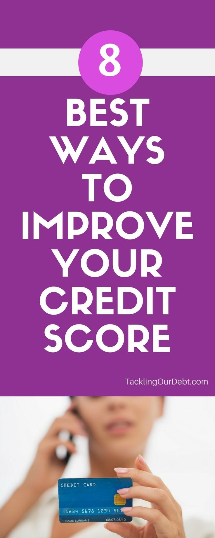 Do you worry about finding ways to improve your credit score?  You should, because your financial well-being pretty much rests on it. A better credit score means you get better loan terms and insurance rates.  What's more, there are employers who check prospective hires' credit scores now, so it pays to keep your rating healthy.   If your current credit score is low, here are eight things you can do to improve your credit score.