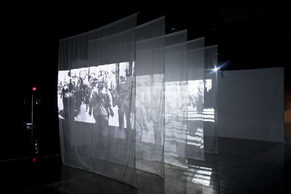 TRANSPARENT PROJECTION MATERIAL REFERENCE >> Sang Eun Lee, Passing By (2013), Video installation                                                                                                                                                                                 More