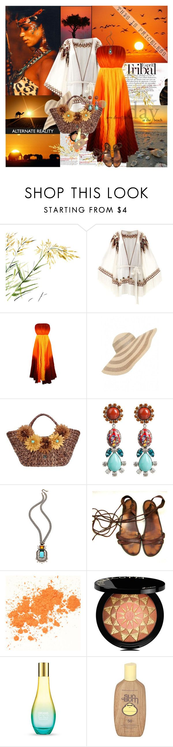 """""""Esprit Tribal"""" by lusy-lusy ❤ liked on Polyvore featuring ESPRIT, National Geographic Home, Talitha, Alice + Olivia, Helene Berman, GIANMARCO VENTURI, DANNIJO, Guerlain, The Body Shop and Sun Bum"""