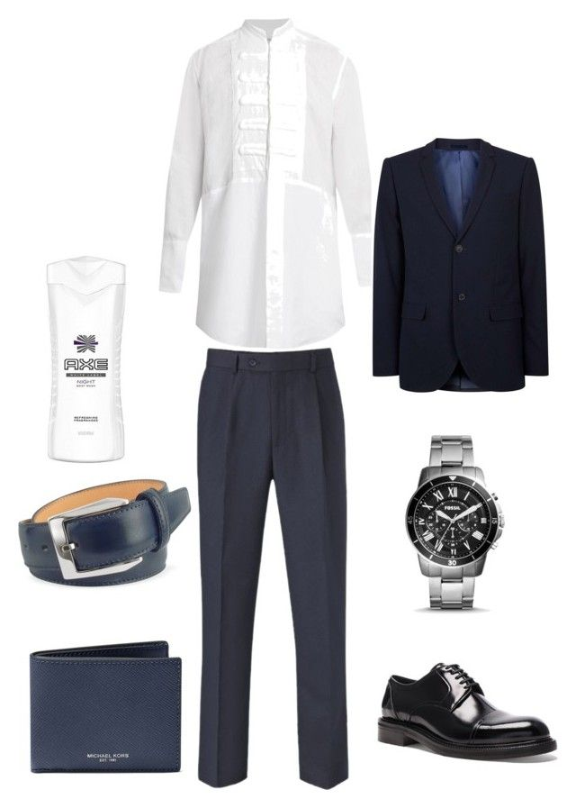Gentlemen Outfit by elf-islm on Polyvore featuring Loewe, Skopes, Topman, FOSSIL, Michael Kors, pakerson, Axe, men's fashion and menswear