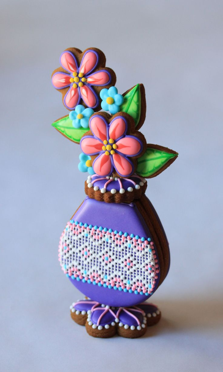 Purple Cookie Bud Vase by Julia M. Usher, Author of Ultimate Cookies