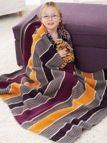 Lapghan Knitting Pattern : Free pattern, Knitting patterns and Stripes on Pinterest
