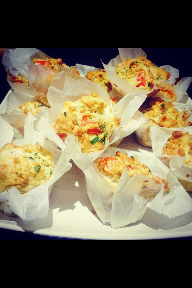 Red pepper & goats cheese muffins Mary Berry - Great British BakeOff