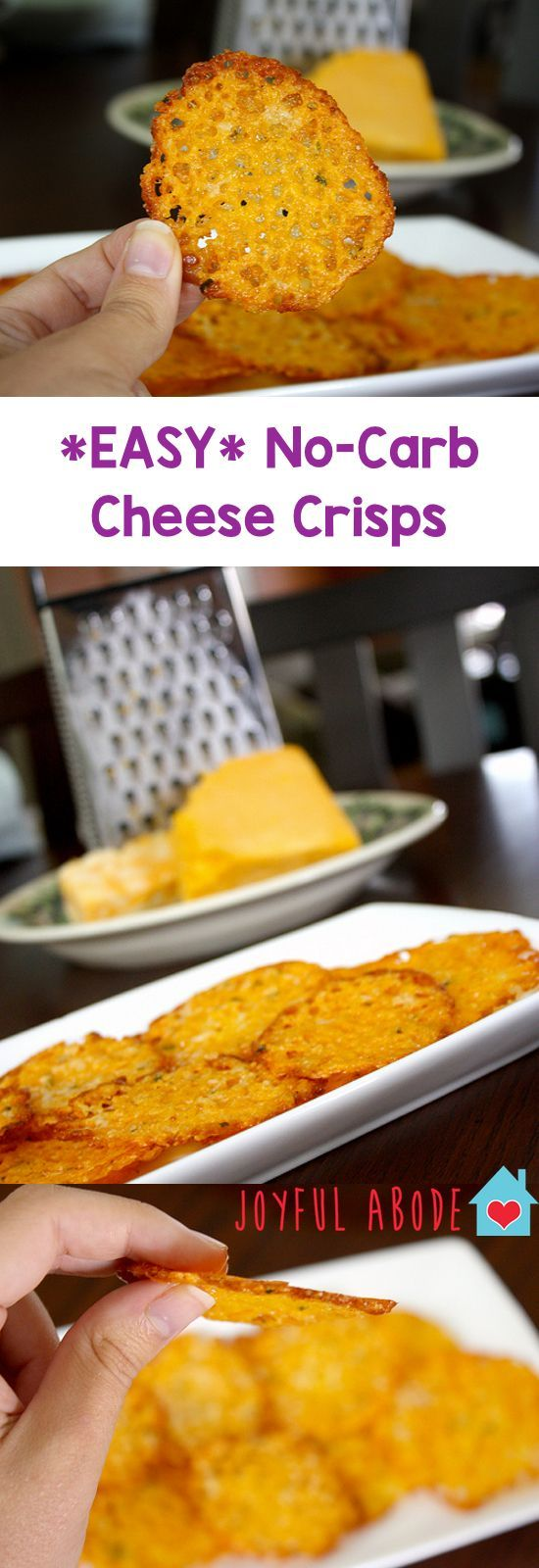 If you're thinking about buying cheese crisps to snack on, don't. It's so easy to make your own! No mess, and it only takes a few minutes. These are GREAT!