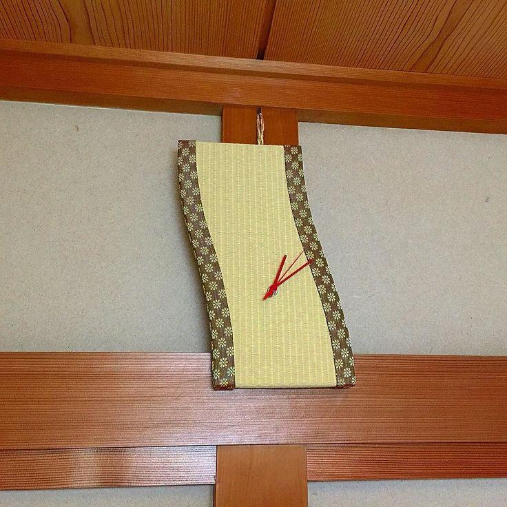Часы-татами в традиционном интерьере японской комнаты васицу #часы #японскийстиль #стиль #интерьер #дизайн  #часы #настенныечасы  #время #тиктак #стрелки #татами #васицу