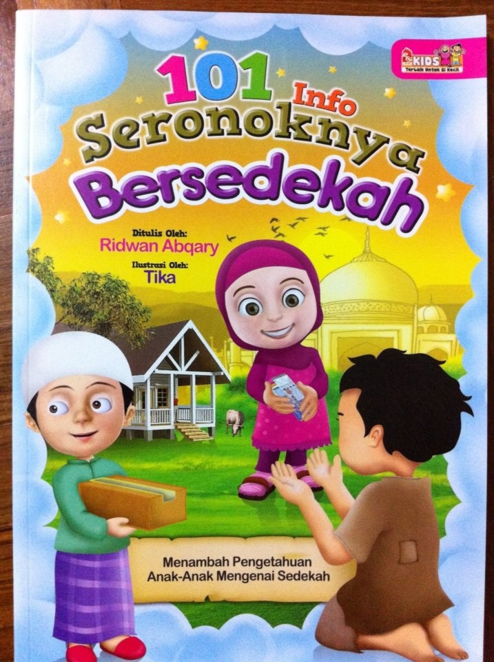 [101 INFO SERONOKNYA BERSEDEKAH] Buku ini mengandungi 65 pages. Apa makna sedekah, Contoh sedekah, Ikhlas bersedekah, Sedekah dan infak, Sedekah dan zakat, Al-Quran dan zakat, Pahala sedekah dan BANYAK LAGI... Gambar-gambar yang menarik dan berwarna. Menambah pengetahuan anak-anak mengenai bersedekah secara santai dan menyeronokkan...