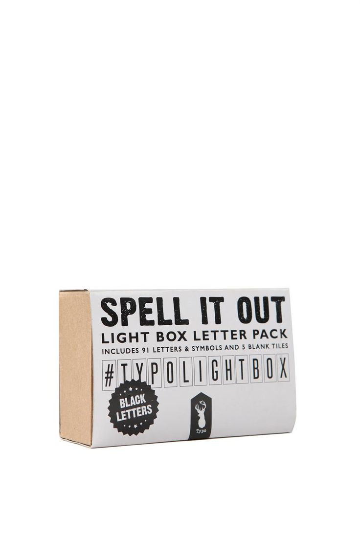 Pair these letters & symbols with your amazing typo light box and spell out your own personalised messages, favourite sayings, songs, quotes... go on get creative! <br> Size: Letters fit a Typo A4 light box <br> Features: 91 letters & symbols and 5 blank tiles. <br/>
