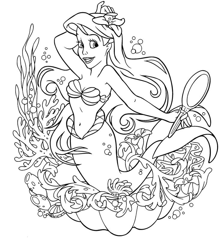 Ariel Princess Coloring Pages Best Princess Coloring Pages For Kids