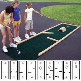 ParPutt Miniature Golf 9-Hole, Price/SET ((I could totally make this with a table saw and a an x -acto knife. Have both, hmm. ))