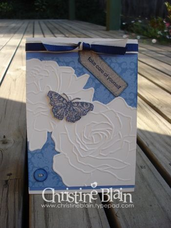 Blue, vanilla Manhattan Flower card 001