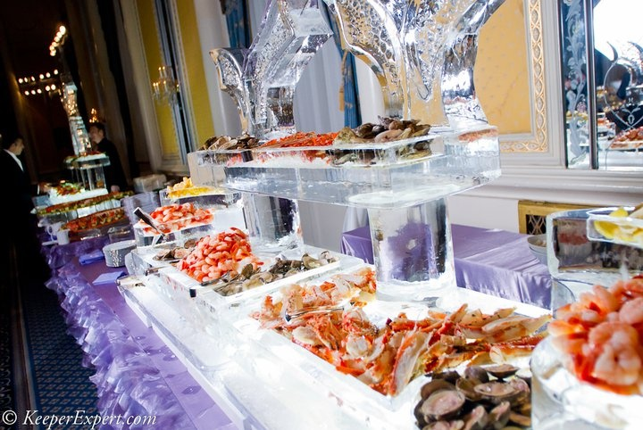 Seafood station holidays pinterest catering for Food bar ideas for wedding reception