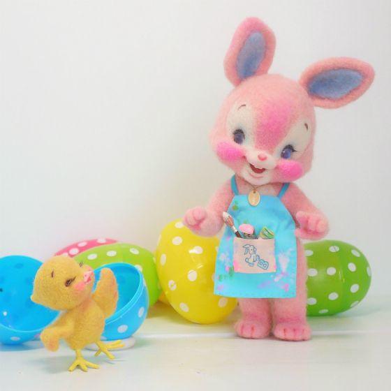 Pink Bunny & chick ribonetta blog
