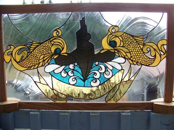 Submarine Insignia Stained Glass Navy Pinterest I