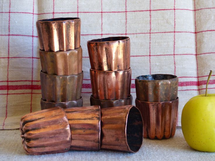 Copper Cannele Molds, Tin Lined Copper Cannele Molds, Large size Copper Cannele Molds, French Vintage From Bordeaux. (Set of 12) Foodie Gift by JadisInTimesPast on Etsy
