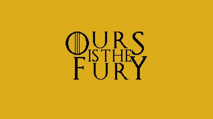 House Baratheon, Game of Thrones House Motto cross stitch chart
