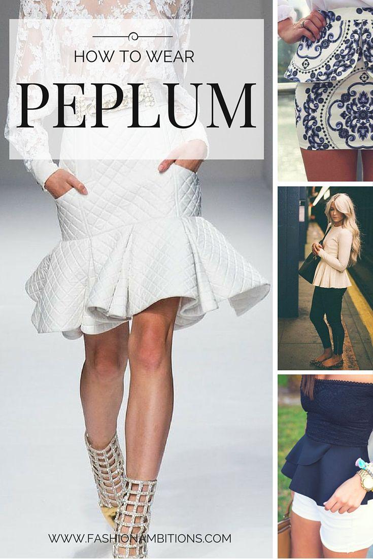 How To Wear Peplum