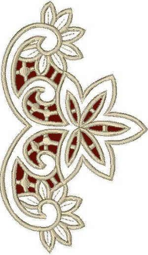 Advanced Embroidery Designs - Floral Lace Corner.. I see the basics for some ribbon work