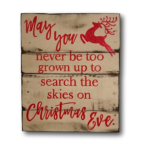 Vintage / Rustic Christmas decor. Hand painted on reclaimed wood. Sign has a distressed white background with red lettering & reindeer in red glitter. Size pictured is approximately 16 wide x 20 tall. Alternate background color choices are available at checkout. Please note your