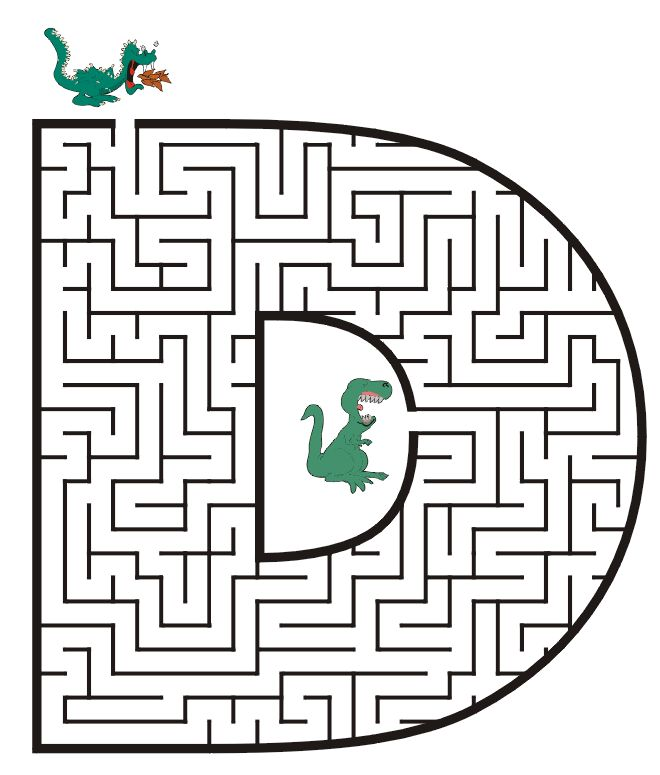 Free Printable Maze of the letter D