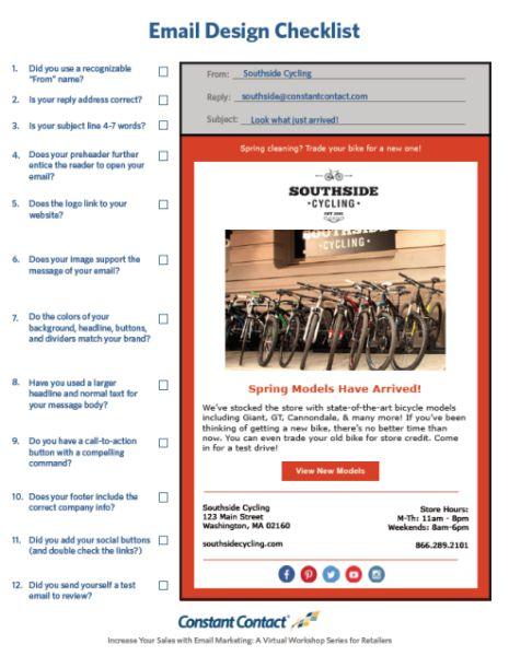 104 best email templates from constant contact images on pinterest checklist 7 essential elements of email design for retailers pronofoot35fo Images