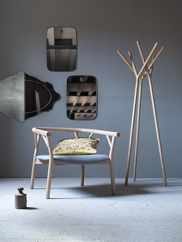 Valeriona armchair with Game of Trust hanger and Les Brothers mirrors