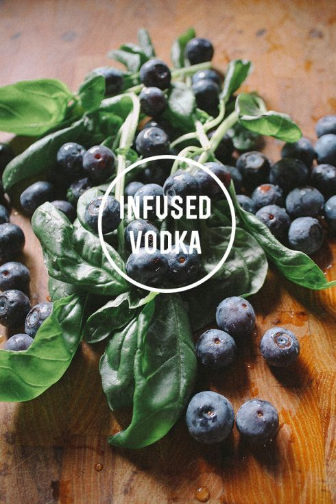 Need a holiday DIY gift? I love making this Basil Blueberry Infused Vodka!