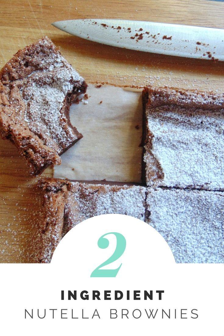 Two Ingredient Nutella Brownies!