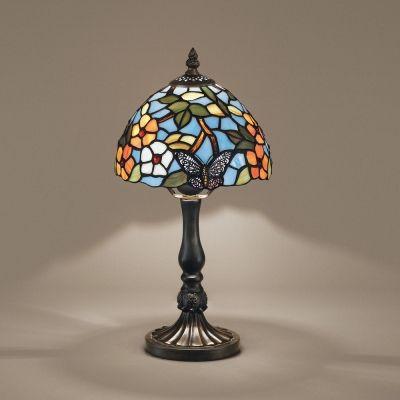 Perenz T1002 U + B614 bordslampa Tiffany harts och zama