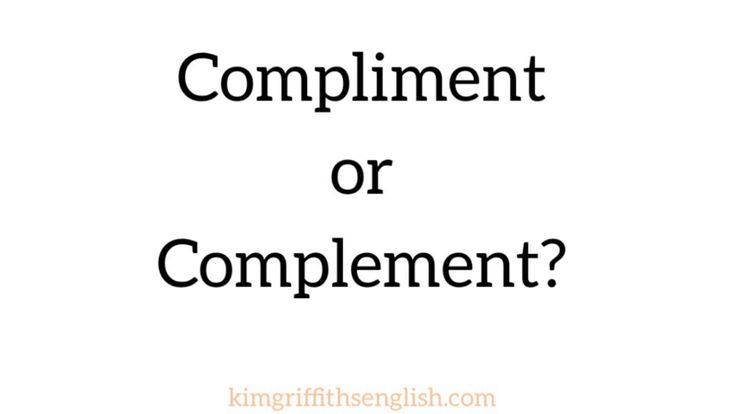 Compliment or Complement, English vocabulary - YouTube