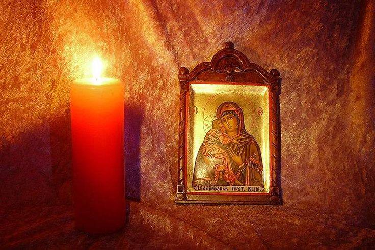 Картинки со свечами и иконами